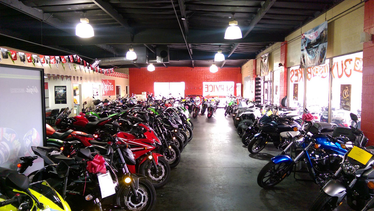 Motorcycle Shop Before Photo